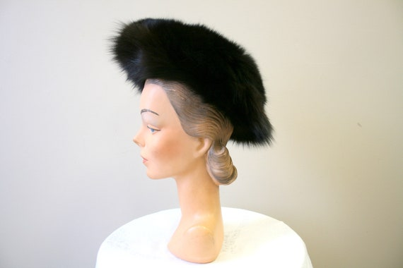 1960s Dark Brown Fur Hat - image 3