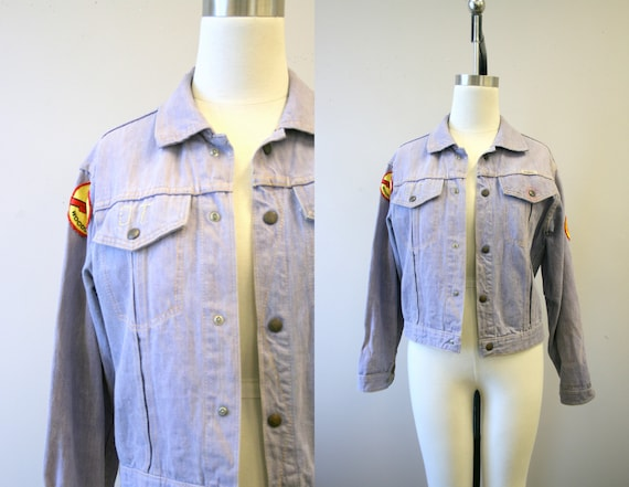 1960s Gauchos Denim Jacket with Woodstock Patch