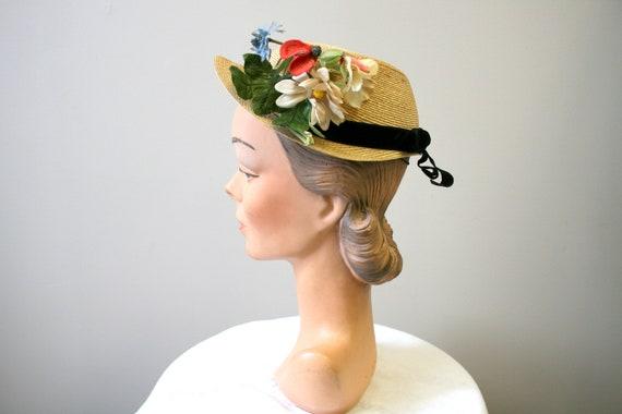 1940s Samuel Goldwyn's Gigi Perreau Straw Hat