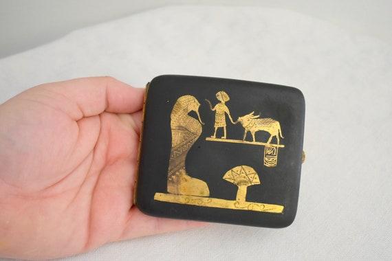 1920s Egyptian Revival Cigarette Case - image 5