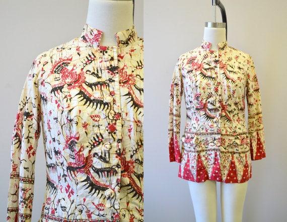 1950s Asian Batik Jacket
