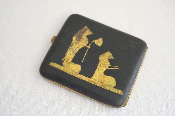 1920s Egyptian Revival Cigarette Case - image 2