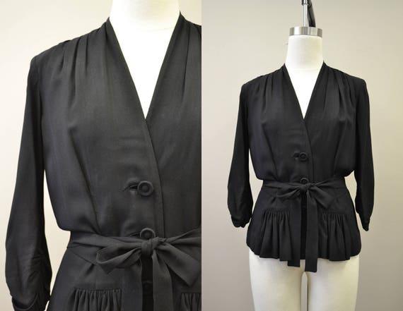 1940s Eisenberg Black Shirt/Jacket