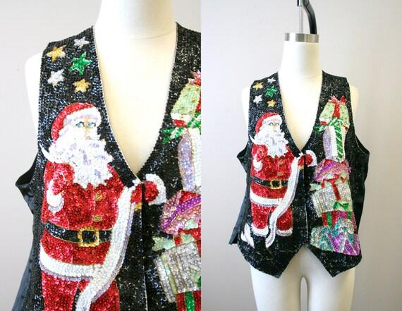 1990s Santa Sequin Vest