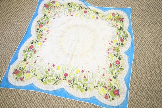 1940s Flower Garden Silk Scarf - image 2
