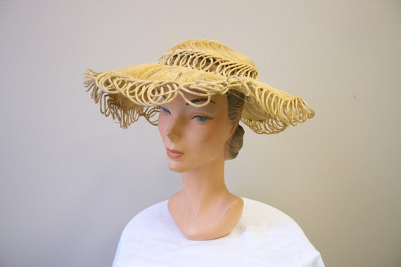 1940s Loopy Grass Sun Hat - image 5