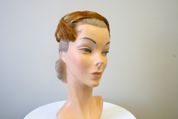 1950s Feather Half Hat