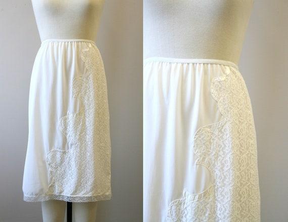 1950s Michelene White Half Slip
