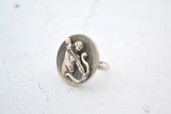 1970s Tortolani Sagittarius Zodiac Ring