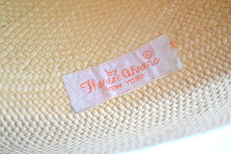 1960s Therese Ahrens Straw Fedora Sun Hat