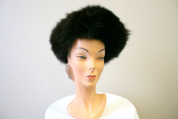 1960s Dark Brown Fur Hat - image 1
