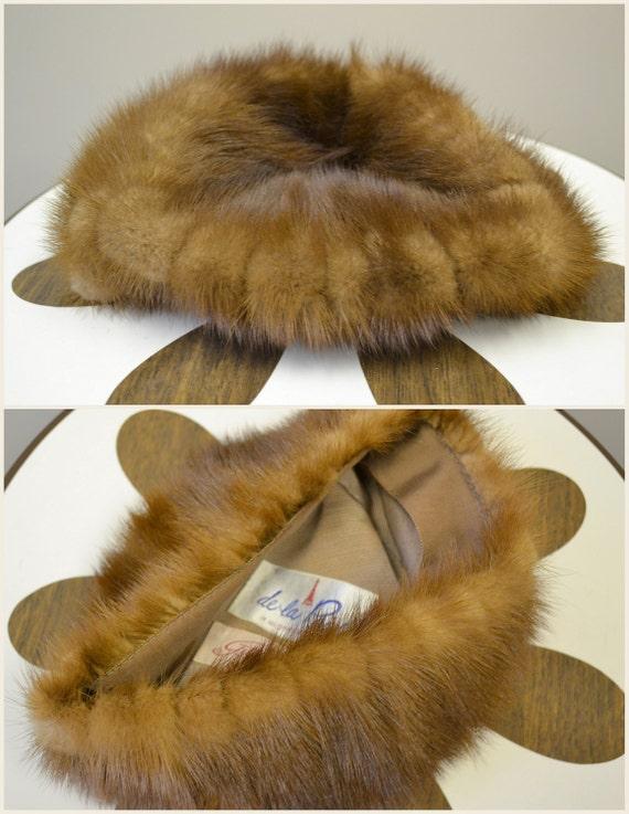 1960s Brown Fur Pillbox Hat - image 5