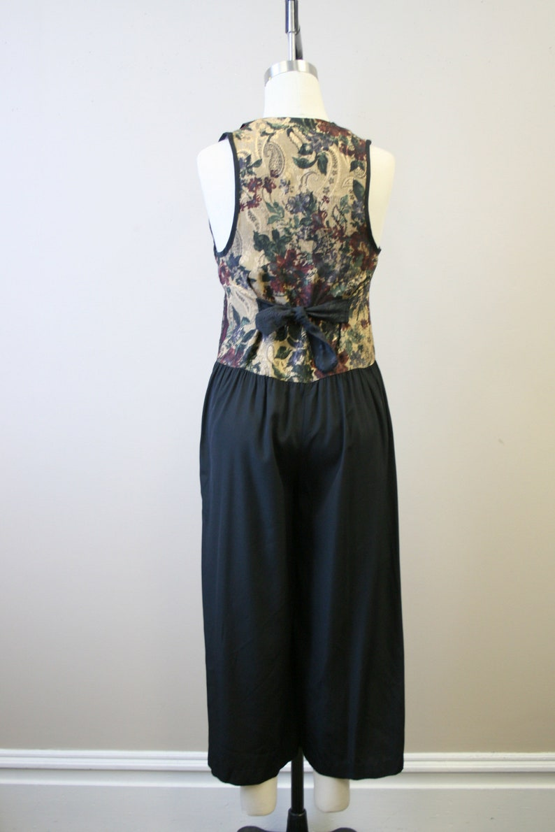 1990s Menswear Inspired Patchwork Cropped Jumpsuit