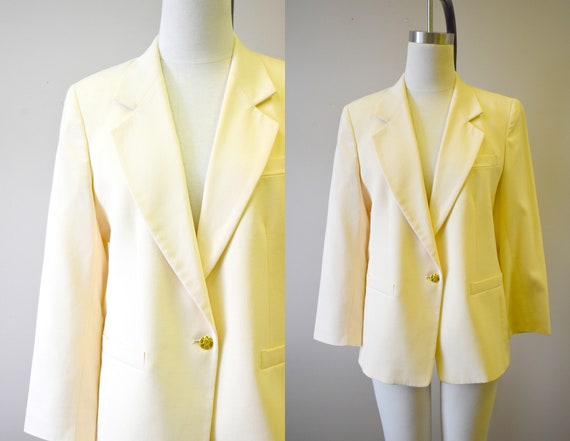 1980s Austin Reed Cream Wool Jacket Etsy