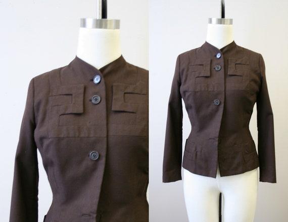 1940s Adrian Brown Wool Jacket