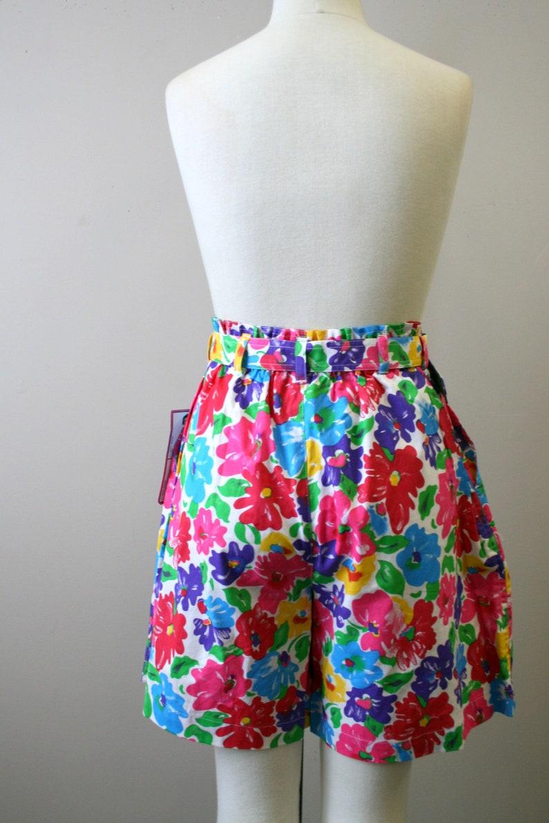 1980s NOS Floral Shorts