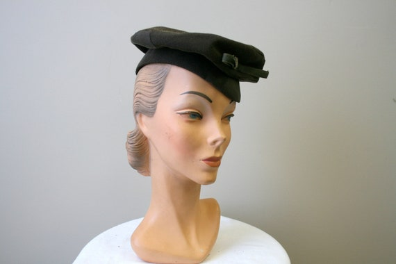 1940s New York Creations Brown Tam Hat