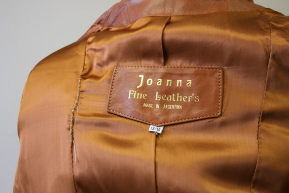 1970s Brown Leather Trench Coat - image 7