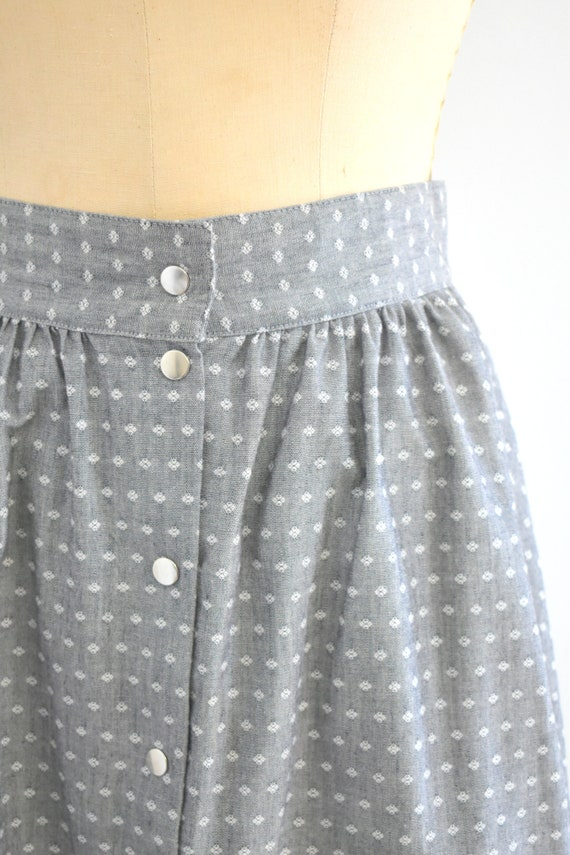 1980s Western Style Gray Midi Skirt - image 4