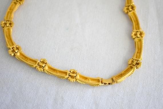 1980s St. John Gold Metal X Necklace - image 7