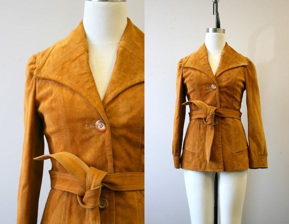 1970s Caramel Suede Jacket