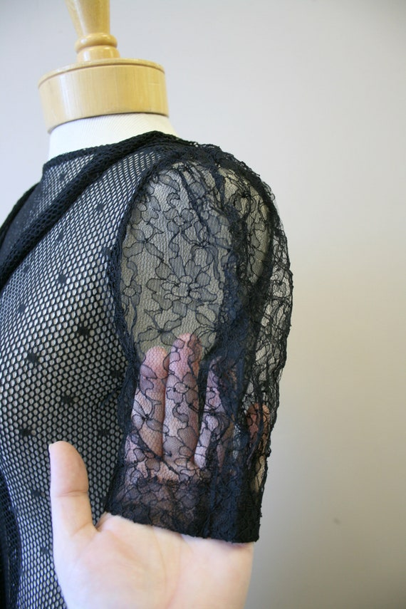 1920s/30s Black Mesh Dress - image 6