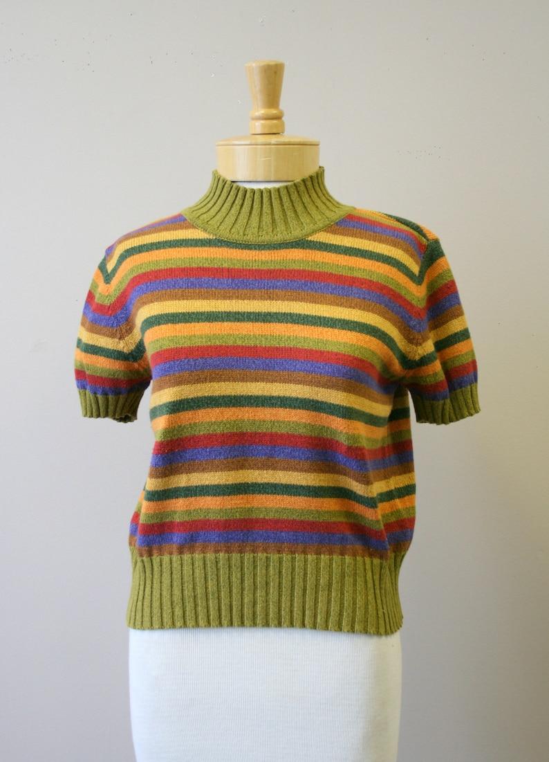 1990s Liz Claiborne Striped Sweater