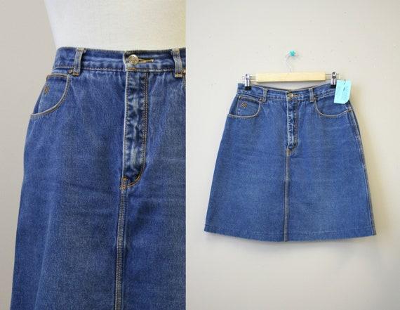 1970s Gloria Vanderbilt Denim Mini Skirt