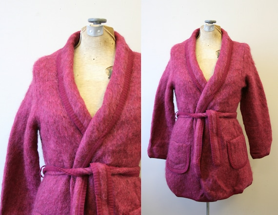 1960s Burnbrae Knitwear Mohair Knit Jacket