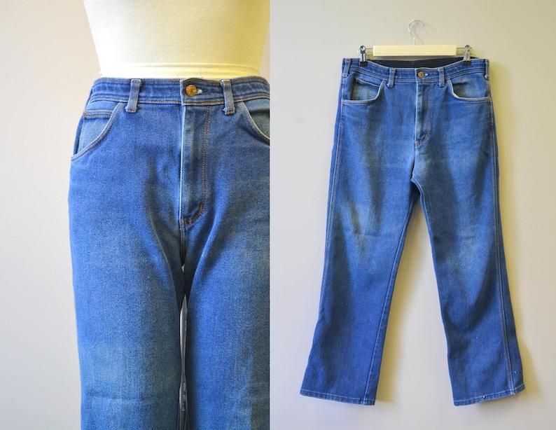 a5eba8a54440d5 1980s Chaps Distressed Jeans 33 Waist | Etsy