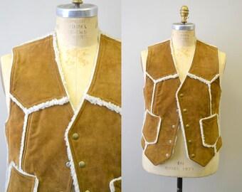 1970s Suede and Fleece Vest