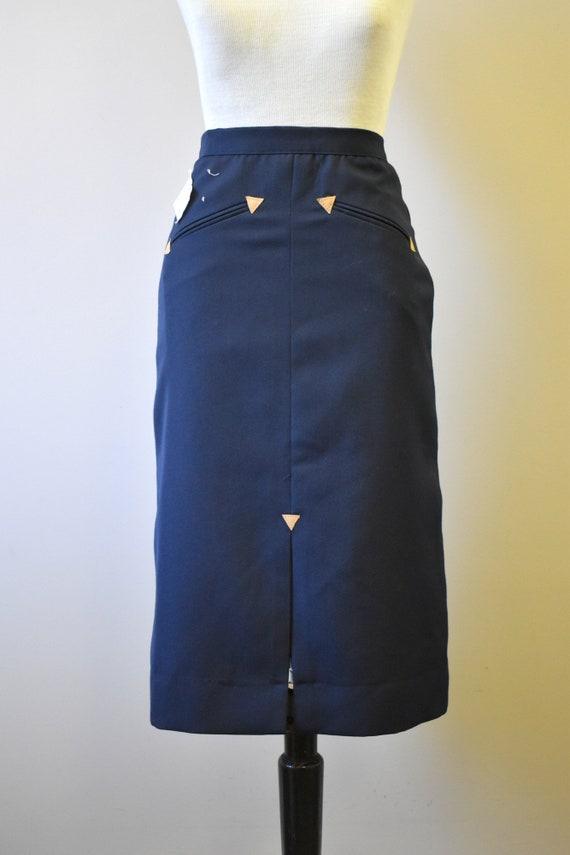 1970s NOS Black Western Style Skirt - image 4