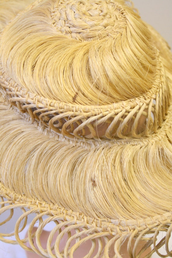 1940s Loopy Grass Sun Hat - image 8