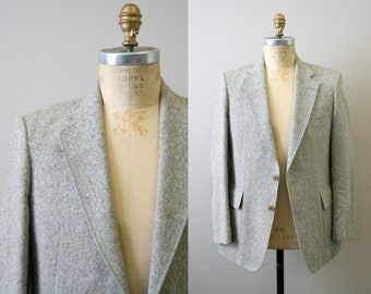 1970s Magee Donegal Tweed Sport Coat with Elbow Patches