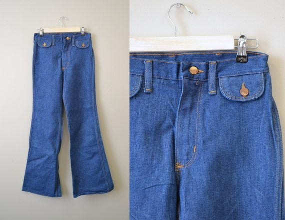1970s NOS Maverick Cotton Denim Jeans, Size 28 x 3
