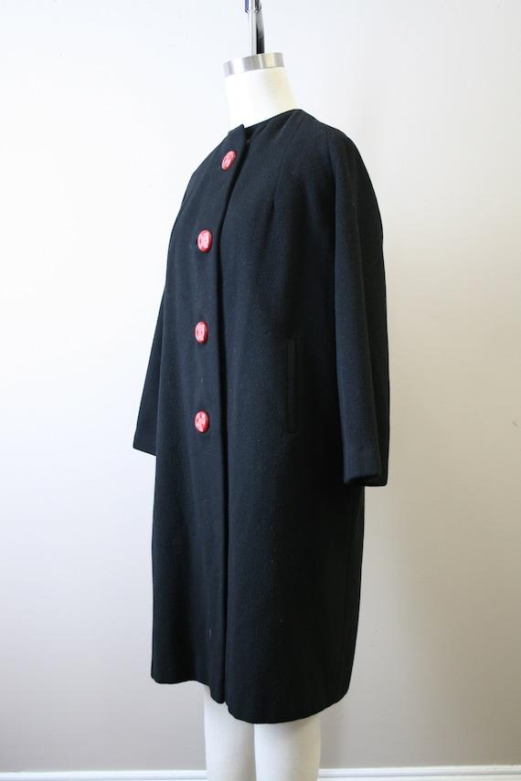 1950s Black Cashmere Coat - image 4