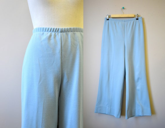 1970s Jantzen Blue Knit Pants