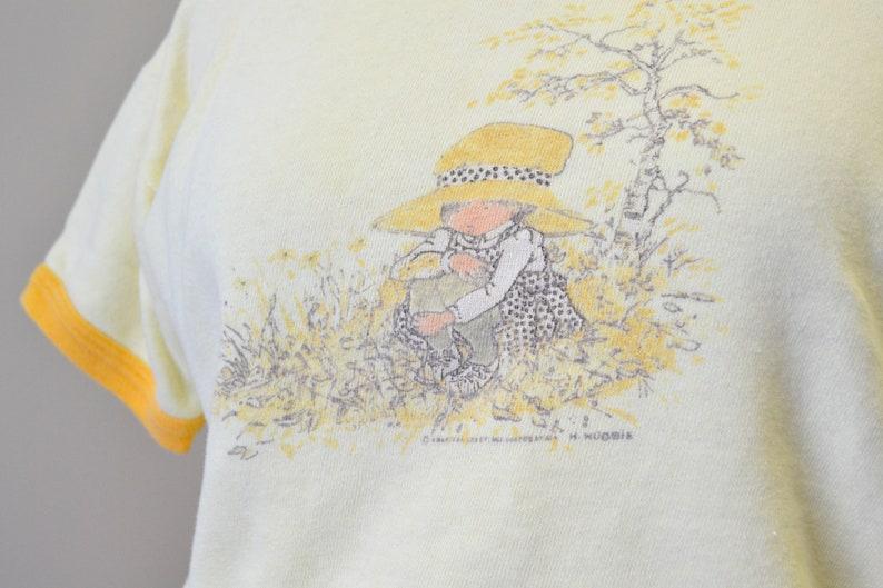 1980s Holly Hobbie Yellow Short Sleeve Sweatshirt