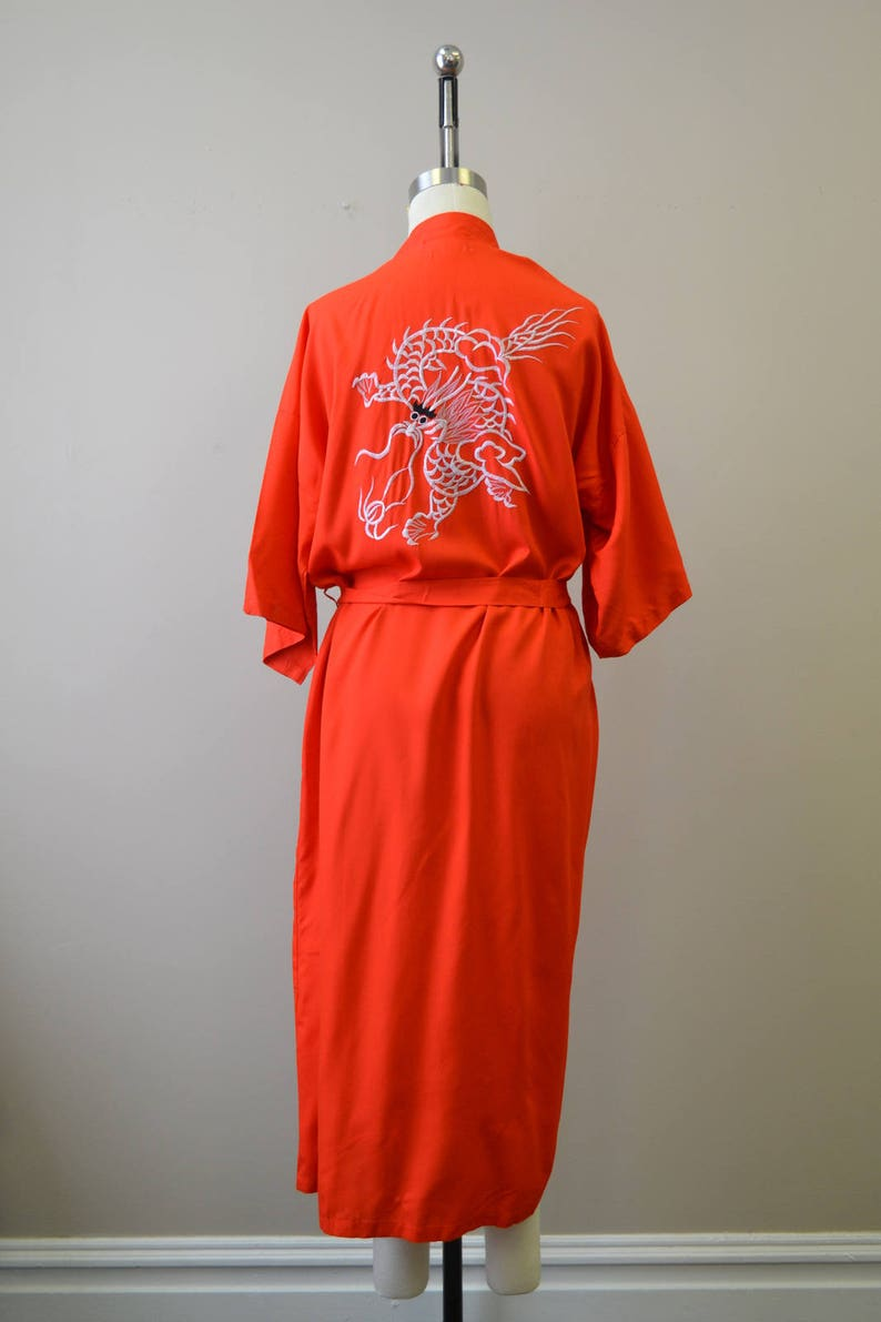1970s Red Dragon Robe