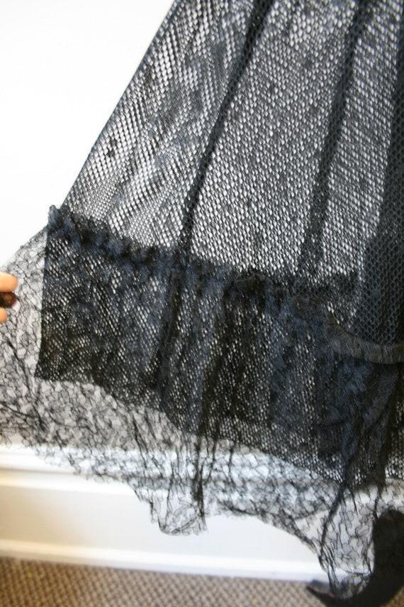 1920s/30s Black Mesh Dress - image 7