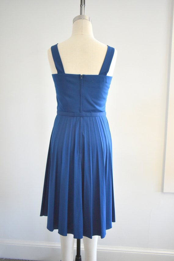 1970s Alfred Shaheen Navy Knit Sundress - image 5