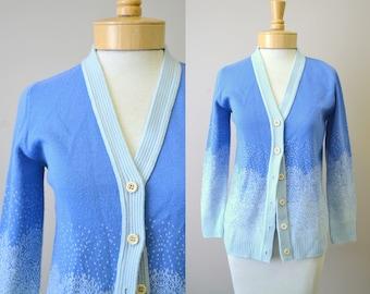 1970s John Meyer Blue Cardigan Sweater