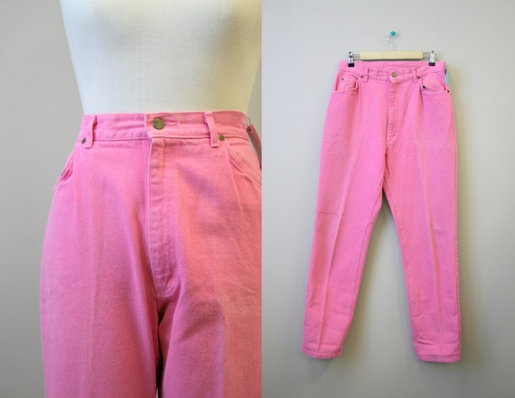 1990s Lee Neon Pink Jeans