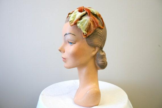 1960s Velvet Leaf Half Hat