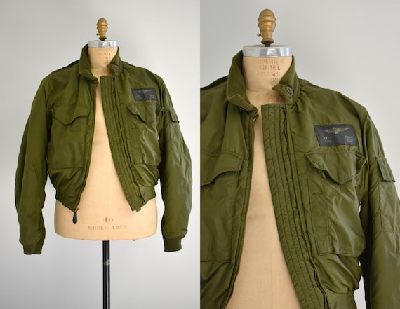 1960s/70s USN G-8(WEP) Green Flight Jacket