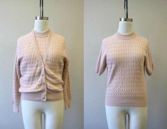 1990s Pink Cashmere Twin Set