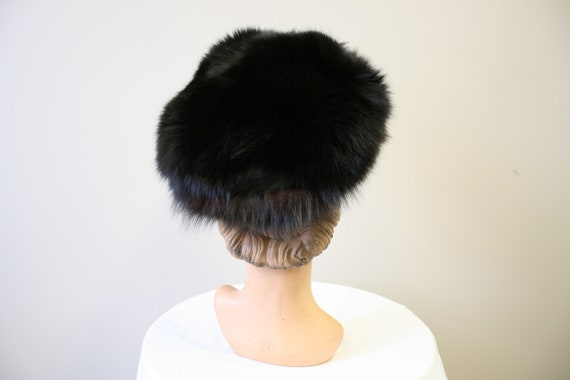 1960s Dark Brown Fur Hat - image 4