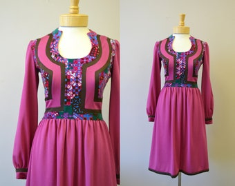 1970s Robert David Morton Ogee Dress