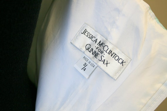 1980s Jessica McClintock for Gunne Sax Mint Gingh… - image 6
