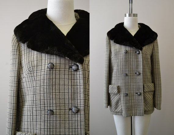 1960s NOS French Poodle Fur Collar Coat